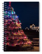 Nubble Lighthouse And Lobster Pot Tree Spiral Notebook