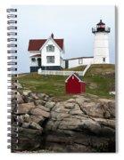 Nubble Lighthouse Cape Neddick Maine 4 Spiral Notebook