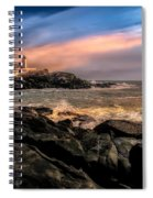 Nubble Lighthouse Winter Solstice Sunset Spiral Notebook
