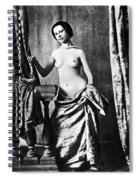 Nude And Curtains, C1850 Spiral Notebook