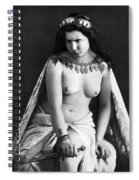 Nude As Ancient Ruler Spiral Notebook