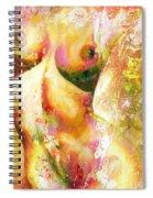 Nude Details - Digital Vibrant Color Version Spiral Notebook