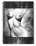 Nude Details - Style Black And White Spiral Notebook