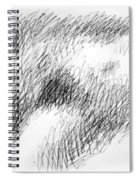 Nude Female Abstract Drawings 1 Spiral Notebook