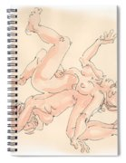 Nude Female Drawings 16 Spiral Notebook
