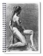 Nude Female Figure Drawing Spiral Notebook