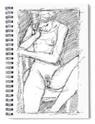 Nude Female Sketches 4 Spiral Notebook