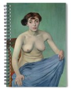 Nude In Blue Fabric, 1912 Spiral Notebook