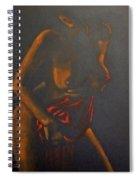 Nude In Darkness Spiral Notebook