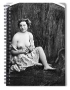 Nude In Field, C1850 Spiral Notebook