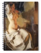 Nude In Fire Light Spiral Notebook