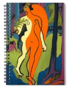 Nude In Orange And Yellow Spiral Notebook