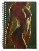 Nude In The Green Spiral Notebook