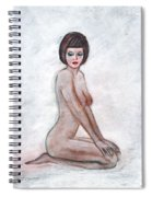 Nude In The White Room Spiral Notebook