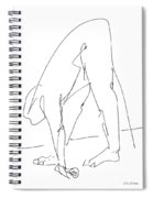 Nude Male Drawings 32 Spiral Notebook