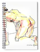 Nude Male Drawings 3w Spiral Notebook