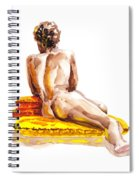 Nude Male Model Study Vi Spiral Notebook