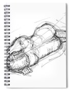 Nude Male Sketches 4 Spiral Notebook