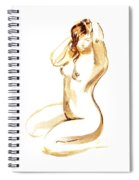 Nude Model Gesture I Spiral Notebook