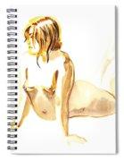 Nude Model Gesture Iv Spiral Notebook