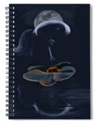 Nude On A Lilly Pad In Moonlight Spiral Notebook