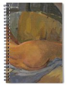 Nude On Chaise Longue Spiral Notebook