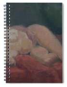 Nude On Red And Green Spiral Notebook