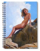 Nude On The Rocks Spiral Notebook