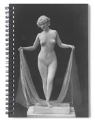 Nude Posing, 1920s Spiral Notebook