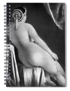 Nude Posing: Rear View Spiral Notebook