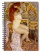 Nude Seated At Her Dressing Table Spiral Notebook