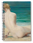 Nude Seated On The Shore Spiral Notebook
