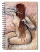 Nude Seated Woman Arranging Her Hair Femme Nu Assise Se Coiffant Spiral Notebook