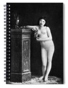 Nude With Grapes, C1850 Spiral Notebook