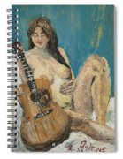 Nude With Guitar Spiral Notebook
