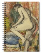 Nude Woman Wiping Herself After The Bath Spiral Notebook