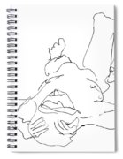Nude_male_drawings-22 Spiral Notebook
