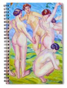 Nudes Dancing In A Ring Spiral Notebook