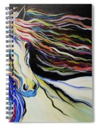 Nuella Horse With The White Shoulder Spiral Notebook