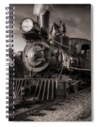 Number 4 Narrow Gauge Railroad Spiral Notebook