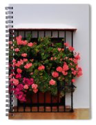 Number 9 - Geraniums In The Window Spiral Notebook