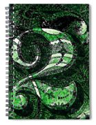 Number Two In Green  Spiral Notebook