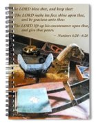 Numbers 6 24-26 The Lord Bless Thee And Keep Thee Spiral Notebook