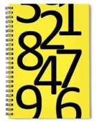 Numbers In Black And Yellow Spiral Notebook