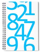 Numbers In Blue Spiral Notebook