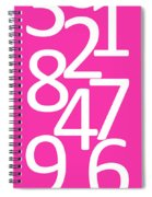 Numbers In Pink And White Spiral Notebook
