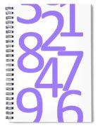 Numbers In Purple Spiral Notebook