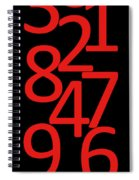 Numbers In Red And Black Spiral Notebook