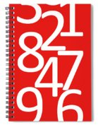 Numbers In Red And White Spiral Notebook