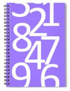 Numbers In White And Purple Spiral Notebook